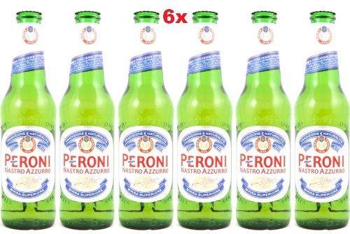 6 x Peroni Nastro Azzurro Bier - 330ml Original Italienisches Bier