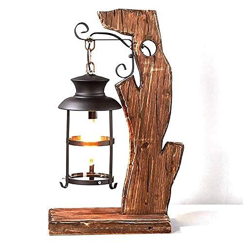 Retro Nostalgische tafellamp, American Personality Creative Table Lamp, geschikt for Living Room Slaapkamer Nachtlampjes Cafe Restaurant Bar Hotel Planken Creative decoratieve tafellamp (button Switch