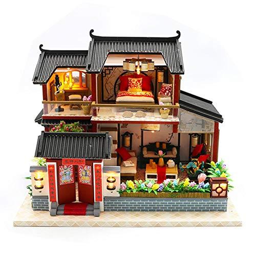 3D DIY Casa de Muñecas de Madera Modelo de Construcción en