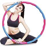 Hula Hoop Adult Weight 100cm Accesorios de fitness para el hogar, gimnasio o entrenamiento de baile Equipo de ejercicio acolchado con espuma