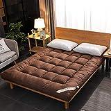 Grueso Colchón Futon,Tatami Floor Mat Acolchado Dormitorio Colchón Topper Suave Cómodo Japonés Rollo De Cama Estera para Dormir Mat B 150x200cm(59x79inch)
