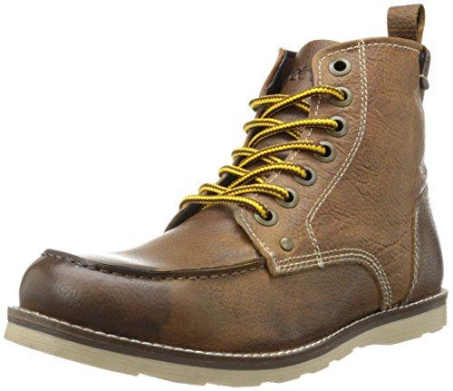 Crevo Men's Buck Fashion Boot, Caramel Leather/Beige, 12 M US
