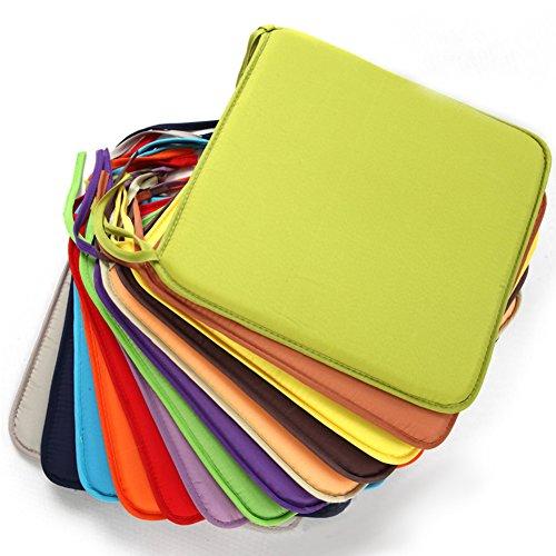 Almohadillas cuadradas para sillas, 40 cm x 40 cm, cojín para silla de jardín, suave, extraíble, para comedor, oficina, cafetería Tamaño libre 6