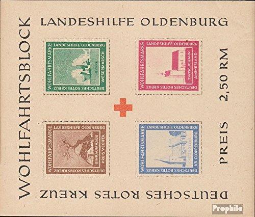 Prophila Collection Oldenburg (Lokalausgaben) Block I B 1948 Landeshilfe Oldenburg (Briefmarken für Sammler) Rotes Kreuz