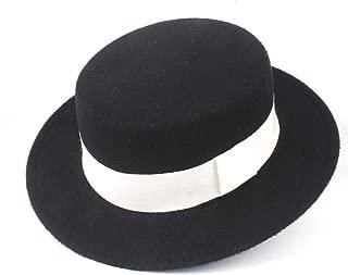 Hat Size 56-58CM Authentic Men Women Fashion Flat Top Hat Wide Brim Fedora Hat Church Hat Wool Trilby Fascinator Hat Fashion Hat