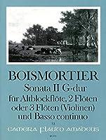 BOISMORTIER J.B. - Sonata Op.34 nコ 2 en Sol Mayor para 3 Flautas y Piano (Pauler/Hess)