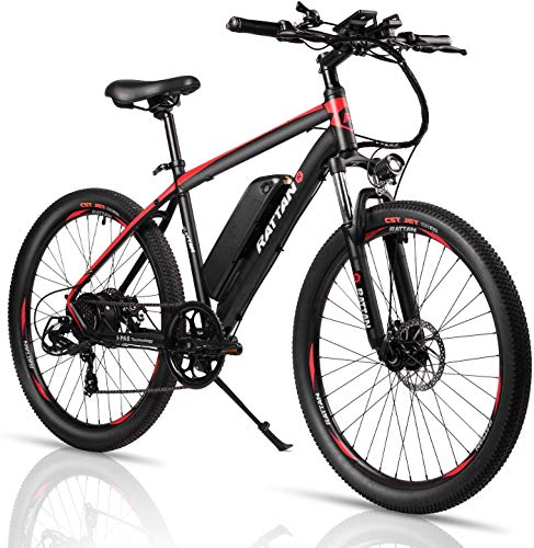 Rattan 26 Inch Mountain Electric Bicycle 36V/10.4AH Removable Lithium-ion Battery Electric Bike for...