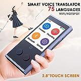 MJNDHB Voz instantánea Traductor 75 Inteligente portátil de Inglés Inteligente de Voz traductores si...