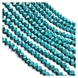 Joyas para mujeres Perlas De Piedra Azul Turquesa Cuadrados Sueltos Aislamiento Perlas Semiacabados Para La Fabricación De Joyas BRICOLAJE Accesorios De Pulsera De Collar Al Menos Comprar Cinco Collar