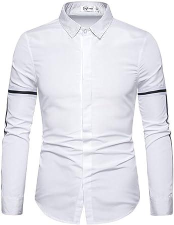 CHENS Camisa/Casual/Unisex/M Camisas Hombre Manga Larga ...