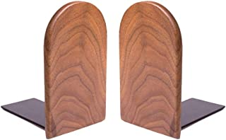 Bamber Large Walnut Decorative Bookends for Shelves Heavy Books, H6.7'' x W4.7'' x L3.9''