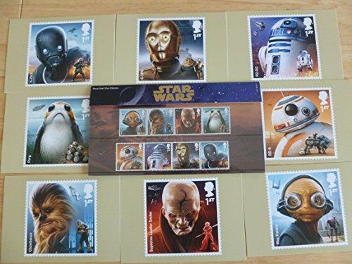 Star Wars Set de regalo sello presentación UNIDADES y sello Tarjeta 2017el último Jedi