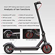 Electric Scooter, 350W Motor, Lightweight and Foldable Scooter for Adults, Color LCD Display, Blueto...