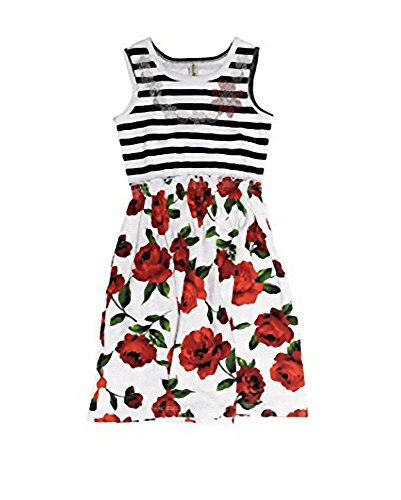Mignone Sleeveless Dress with Rhinestuds for Girls (4)