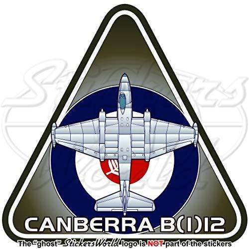 Engels Elektrische CANBERRA B(I) Mk.12 Royal Nieuw-Zeeland AirForce RNZAF Vliegtuig Vinyl Sticker, Decal 3.7