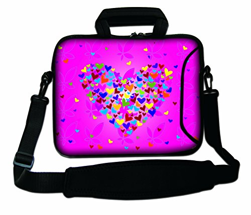 11.6-12' Inches Design Laptop Notebook Sleeve Soft Case Bag With Handle and Shoulder Strap for Apple MacBook Air, MacBook Pro, MacBook Pro Retina, MacBook Aluminum, Unibody, iBook G3 G4, PowerBook