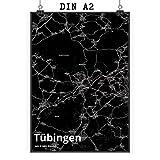 Mr. & Mrs. Panda Poster DIN A2 Stadt Tübingen Stadt Black