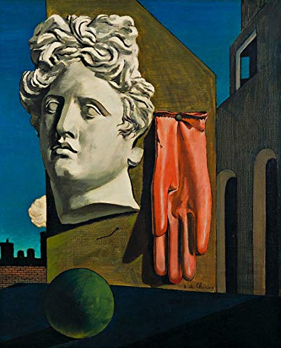 "Giorgio de Chirico The Song of Love Museum of Modern Art - New York 30"" x 24"" Wall Art Giclee Canvas Print (Unframed)"