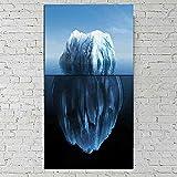 Pintura De Carteles, Foto, Naturaleza, Sala De Estar Impresiones De 1 Pieza Y Carteles Pintura De Paisaje Arte Abstracto Éxito Trabajo Duro Persistencia Un Iceberg Arte De La Pared Lienzo 50X100Cm