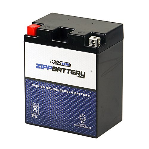 Chrome Battery 14AH-BS High Performance Power Sports Battery - Rechargeable, CCA 210, [+ -]