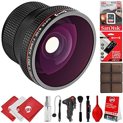 Opteka 0.20x Super Wide Angle Panoramic Macro Fisheye Lens for Canon Digital SLR Cameras w/ 18-55mm & 50mm 80D, 77D, 70D, 60D, 7D, T7i, 7D Mark II, T6s, T6i, T6, T5i, T5, T4i, T3i, T3, SL1 & SL2 -  Circuit City, circuitcity113655