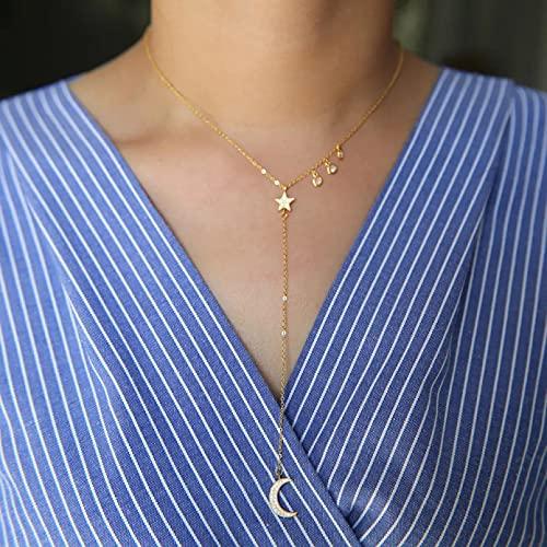 N/A Colgante de Collar de Mujer VenderColgantes Gota Micro Pave Charm LlenoDelicado CollarLariat YDIY