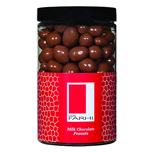 Photo of Rita Farhi Milk Chocolate Covered Peanuts in a Gift Jar | Vegetarian and Chocolate Gift – Chocolate Coated Nuts – 315 g