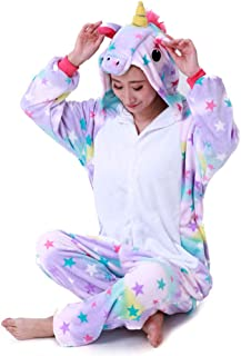 Pijama Kigurumi Cosplay Fantasia Macacão Adulto Unicórnio Estrelinha