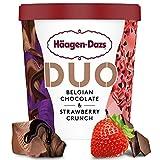Häagen-Dazs Duo Belgian Chocolate & Strawberry Crunch Tarrina, 460ml