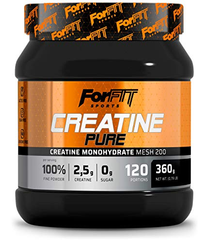 ForFIT Sports Creatine Monohydrate Pure Powder, 360g - 120 Servings