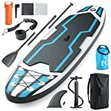 Jasonwell Inflatable Paddle Board SUP: Stand Up Paddle Boards for Adults Premium Blow Up Paddleboard with SUP Accessories Backpack Bottom Fin for Paddling Surf Control for Youth Adults (Blue, L)