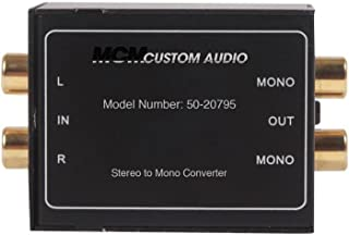 MCM Custom Audio, 50-20795, Stereo to Mono Signal Converter