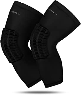 Padded Compression Leg Sleeves Basketball Knee Pads Brace Support for Football Volleyball Baseball Soccer Tennis Sports Protection - Sizes & Designs for Men Women Girls Boys Youth Adult