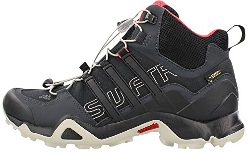 adidas outdoor Women's Terrex Swift R Mid GTX W Shoes, Dark Grey/Black/Super Blush, 9.5 B - Medium