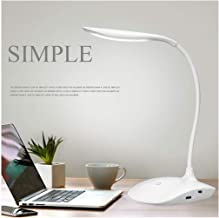 RYLAN Rechargeable LED Touch On/Off Switch Desk Lamp Children Eye Protection Student Study Reading Dimmer Rechargeable Led Table Lamps USB Charging Touch Dimmer(Desk Lights for Study.)