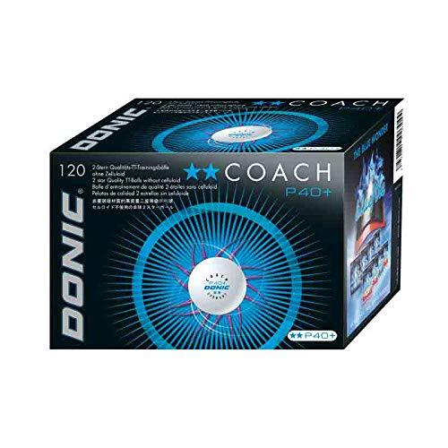 DONIC Ball Coach P40+ ** 120er, weiß