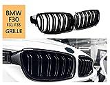 Griglie a doppio rene frontali, griglia di ricambio per auto ABS nero lucido per F30 F31 F35 2012-2019 Griglie nere lucide