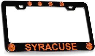 Custom Brother - SYRACUSE Basketball Black Metal License Plate Auto Tag Frame