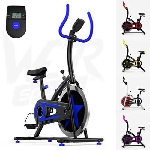 We R Sports Aerobico Formazione Esercizio Bici Ciclo Fitness Cardio Allenamento Casa Ciclismo Corsa Macchina (Blu)