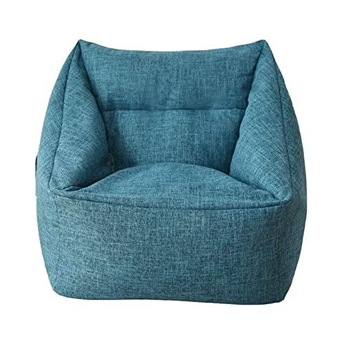 N\C ZSCC Bean Bag Chair Classic Bean Bag Funda para sofá, sillón Perezoso Bean Bag Funda para Silla de Almacenamiento para Adultos y niños sin Relleno