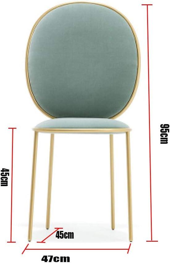 Chaise de Salle à Manger Fauteuil de bureau Fauteuil de bureau simple pour le dossier de loisirs Fauteuil de beauté Coiffeur Fauteuil de café (Color : Green) Pink
