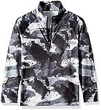 Spyder Boys' Limitless Camo Half Zip T-neck Shirt, Camo Distress Print/Black, Medium