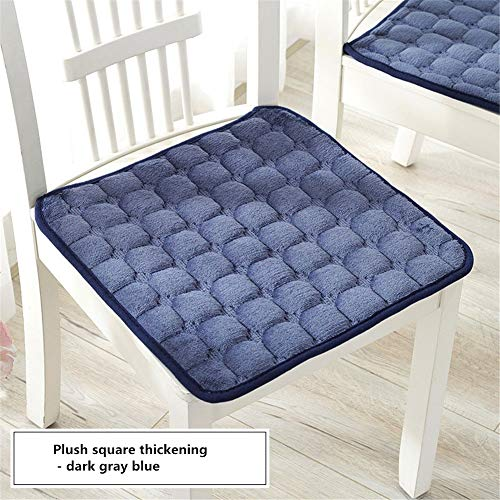 YDMR Set of 2 Square chair pads kitchen chairs Plush garden chair seat pads Non-slip outdoor seat pads Solid color chair cushions with ties Thicken seat cushions dining chairs 40x40