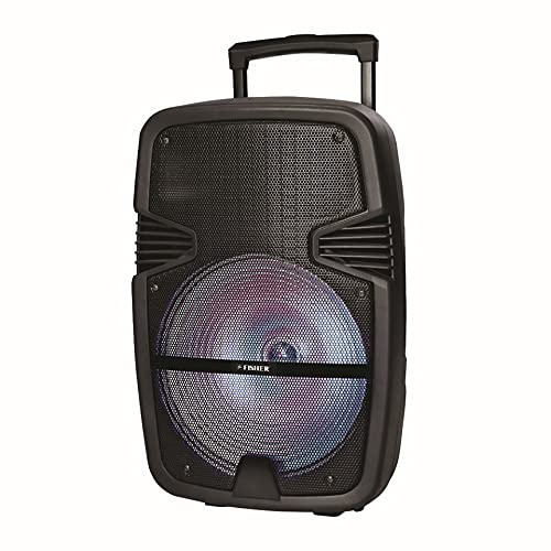 Fisher Speakers Bluetooth Wireless with LED Lights: 20w Subwoofer Output / 2600w Peak Power / 12