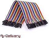 AZDelivery Jumper Wire Kabel 40 STK. je 20 cm F2F Female to Female kompatibel mit Arduino und...