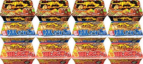 【Amazon.co.jp限定】 明星 一平ちゃん 夜店の焼きそば 3種アソート 12個入 【セット買い】