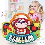 VATOS Juguetes musicales Piano para niños, Instrumento musical Piano de mono, Actividad de...