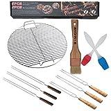 Huaxiong Grille ronde en acier inoxydable pour barbecue dia44,5cm Huaxiong Grille ronde en acier inoxydable pour...