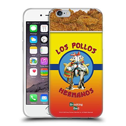 Head Case Designs Licenza Ufficiale Breaking Bad Los Pollos Hermanos Secchio di Pollo Iconico Cover in Morbido Gel Compatibile con Apple iPhone 6 / iPhone 6s