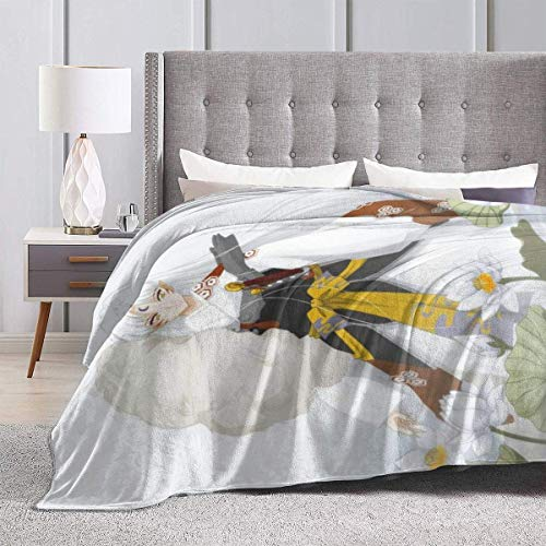 Engshi Mantas para Cama Inuyasha-Sesshomaru Anime Warm Soft Novelty Ultra-Soft Micro Fleece Throw Blanket for Living Room/Bedroom 50